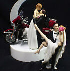 Wedding Cake Topper w/ Harley Davidson Motorcycle Red ELECTRA GLIDE Sexy OR Kiss $71.0 USD on eBay