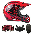 Snocross snowmobile helmets - Snowmobile Helmet Snocross Red Splatter With Breathbox And Goggles Adult DOT
