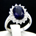 New Women's 5.09 CT Sapphire CZ Engagement 925 Sterling Silver Wedding Ring