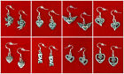 VINTAGE STYLE HEART DANGLE EARRINGS~VALENTINES DAY GIFT~925 STERLING SILVER HOOK