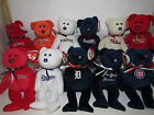 "U PICK YOUR TEAM 1 MLB BASEBALL TY Beanie baby TEDDY BEAR logo COLOR NWT 8"" Size"