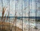 Coastal, Ocean, Seagulls, Rustic Beach Wall Art Home Decor Matted Picture