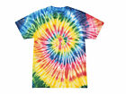Multi-Color Neon Rainbow Tie Dye T-Shirts S M L XL 2X 3X 4X 5X Cotton Gildan