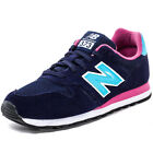 New Balance WL373 Womens Leather & Textile Dark Blue Trainers