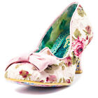Irregular Choice Dazzles 2nd Razzle Womens Textile Pink Floral Heels