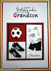 Hand made FOOTBALL Birthday card DAD SON UNCLE GRANDDAD etc can be personalised
