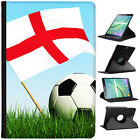 Flag with Black & White Football Cover Leather Case For Samsung Galaxy Tablet