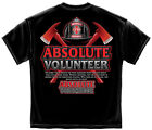 Firefighter T-Shirt Absolute Volunteer Firefighter Black