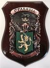 Elliot to Falvey Family Handpainted Coat of Arms Crest PLAQUE Shield