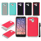 For Alcatel One Touch Fierce XL 5054 Flint Pop 3 HYBRID Silicone Case Cover +Pen