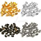 New 100pcs Iron Butterfly Back Jewelry Earring Ear Stopper 6x4x3mm 4 Colors
