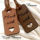 Microfiber Suede Tags for Your Handmade Items - Brown/Dark Brown