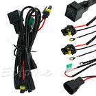 Xenon HID Conversion Light Relay Wire Wiring Harness H1/3 H7 H8 H9 H11 9006 9005