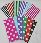 Pick & Mix Striped and Spotted Polka Dot Candy Bags for Sweets and Party Gifts
