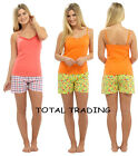 NEW LADIES WOMENS SUMMER VEST TOP AND SHORT PYJAMAS BEACH HOLIDAY WEAR LOUNGE