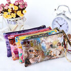 Fashion Women Leather Wallet Zip Around Case Purse Lady Long Handbag Clutch AS