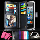 Heavy Duty  iPhone 4  4S Wallet Case Magnet Cover Skin PU Leather 6 Card Slots