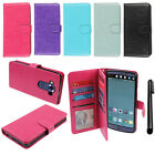 For LG V10 H900 Leather Flip Magnetic Wallet Cover Case Card Slot Holder + Pen