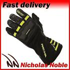 Richa Cold Protect GTX Black Yellow Gore-Tex Leather Textile Waterproof Gloves