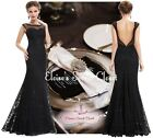 DAVINA Black Lace Embellished Prom Evening Cruise Ballgown Dress Sizes UK 6 - 18