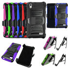 Phone Case For Huawei Vision 3 LTE Rugged Cover Stand Holster -Consumer Cellular