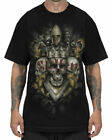 Sullen Clothing No Arts Mens T Shirt Black Crowned Skull Tattoo Tee Goth
