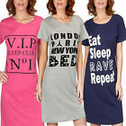 Ladies Short Sleeve Nightdress Night Shirt womens Nightie Cotton NIGHTWEAR