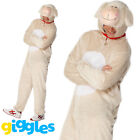 Adult's Lamb Sheep Onesie Costume Animal Fancy Dress Ladies Mens Funny Outfit