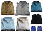 Mens Mandarin Thai-Silk-Shirts /Jacquard Weave / S - XXXL / SHORT & LONG Sleeve