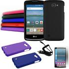 Phone Case For LG Optimus Zone 3 4g LTE Hard Cover Car Charger Protector Screen