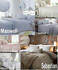 Luxury Woven Jacquard Quilt Duvet Cover Bedding Bed Linen Sets Pink Blue Ivory