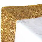 """5/10pc Gold 12""""x108"""" Sequin Table Runners Sparkly Bling For Wedding Party Decor"""