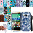 For HTC One Remix One Mini 2 TPU Gel SILICONE Rubber Soft Case Phone Cover + Pen