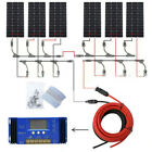 ECO 1KW 200W 500W 100W 12V Solar Panel System w/ Controller or Inverter for Home