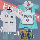 Kids Nurse Outfit Doctor Dr Dress Up Role Play Childrens Fancy Dress Hospital