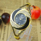 Women's Dial Crystal Bracelet Analog Quartz Wrap Wrist Watch Cuff