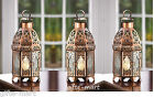 "10 copper moroccan 10"" tall Candle holder Lantern lamp wedding table centerpiece"