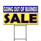 Going Out Of Business Sale Corrugated Plastic Yard Sign /FREE Stakes