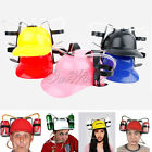 Unique Party Toy Beer Soda Dual Can Straw Drinking Beverage Helmet Gifts Colours
