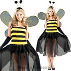 CL817 Fairy Bumble Bee Animal Womens Fancy Dress Up Halloween Costume+ Wings