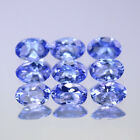 6x4mm Lot 1,2,6,10pcs Oval Cut Calibrated Natural Gem Violet Blue Tanzanite