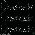 3x Cheerleader Iron On Rhinestone Transfer Crystal Hotflix t-shirt applique