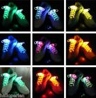 New Cool Light Up LED Shoe Laces Dark Wedding Party DISCO Glow Stick Shoelaces