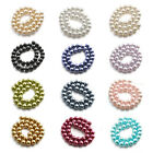 4/6/8/10mm Round Glass Imitation Pearl Loose Beads Charm Women Jewelry Findings
