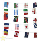 RUGBY WORLD CUP BUNTING AROUND THE WORLD 7.5 METRE FLAG PARTY DECORATIONS 25 FT