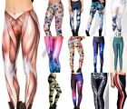 fitness 3D Graphic Printed Women Leggings Yoga Gym Dance Capri Cropped DH BX02