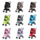 New Dog Puppy Cat Pet Travel Stroller Pushchair Pram Jogger Buggy Swivel Wheels