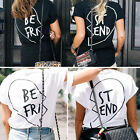 Fashion Women Best Friends Short Sleeve Casual T-Shirt Letter Printed Top Blouse