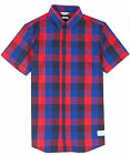 Jack & Jones Gavin S/S Check Shirt in White Navy, Blue Red RRP £29.99 *BNWT*