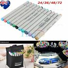 FINECOLOUR 24/36/48/72 Color EF101 Art Set Marker Pen Sketch Manga Graphic + Bag